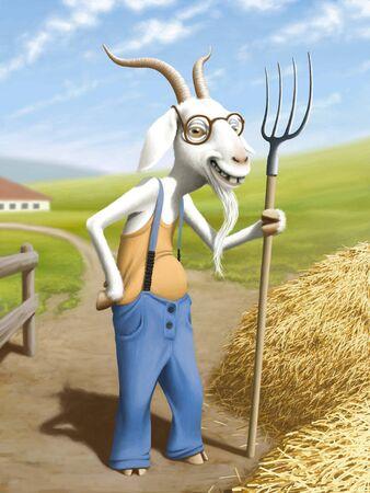 fun grass: Goat
