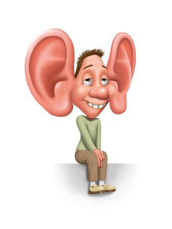 oreja: te estoy escuchando