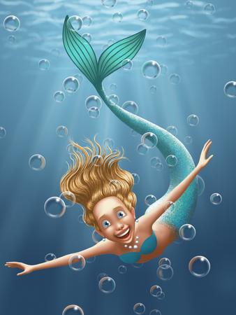 water nymph: Mermaid