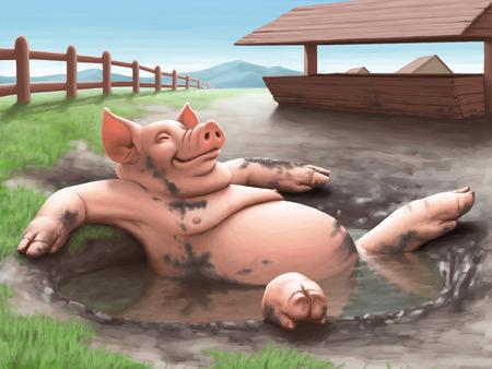 cochinitos: Cerdo Foto de archivo