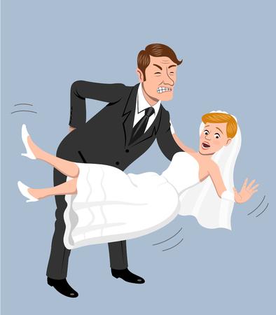 wedding dress back: Back pain