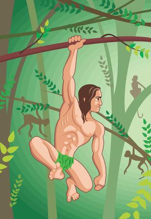 feral: Feral human Illustration
