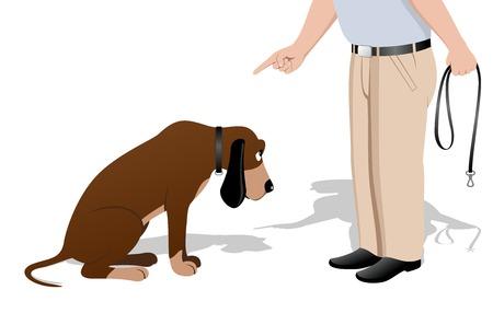 Guilty dog Иллюстрация