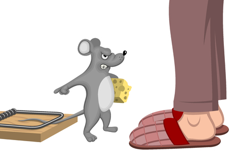 Trapped mouse Иллюстрация