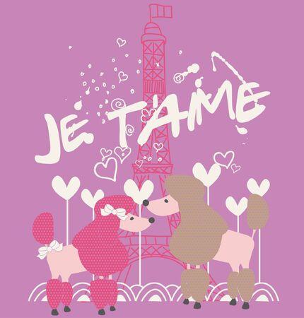 Pudel in Paris
