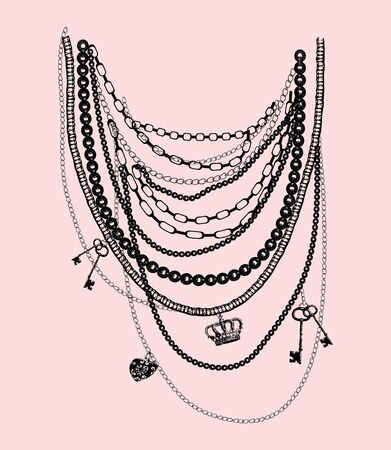 Necklace style Иллюстрация