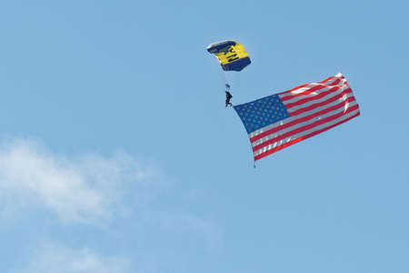USA in the sky