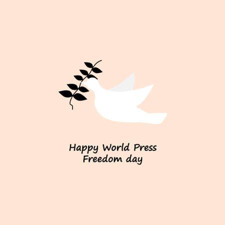 happy world press freedom day bird vector