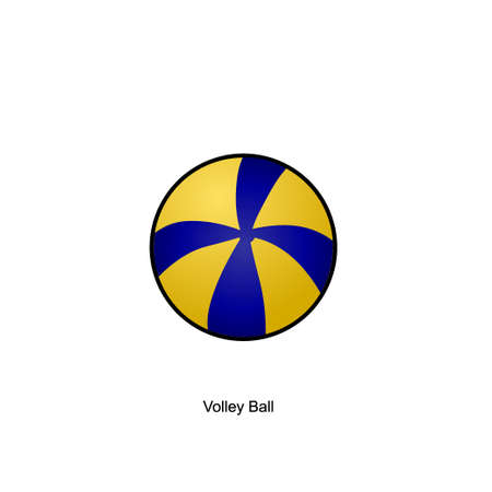 summer volley ball with outline flat illustration, I made an outline image for buyers who only want to buy images for the template Illustration
