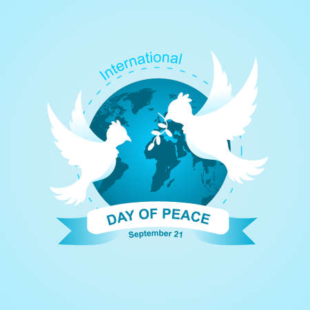 day of peace illustration vector, for celebrate day of peace at September 21, Additional Image include layer by layer