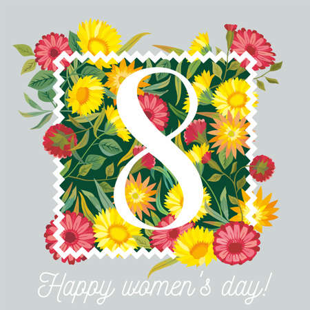 gently: 8 march womens day. Illustration