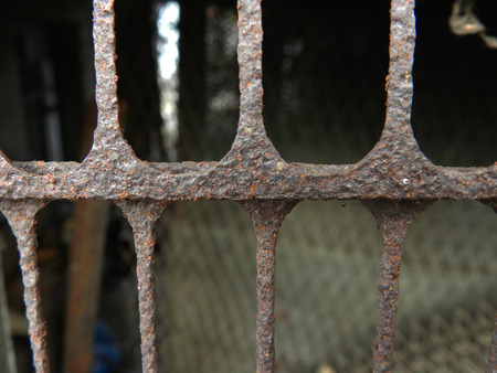 metal fence: metal fence texture Stock Photo