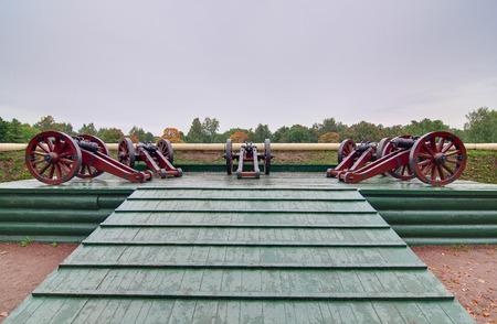 petergof: Cannons in the park of Petergof
