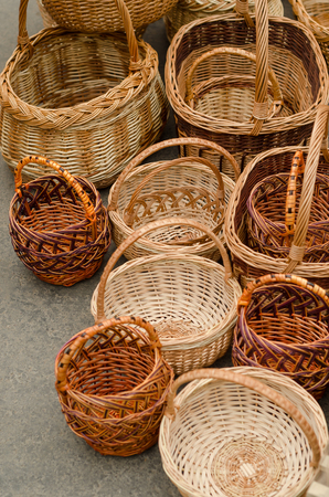 Woven baskets handmade at the agriculture fair.