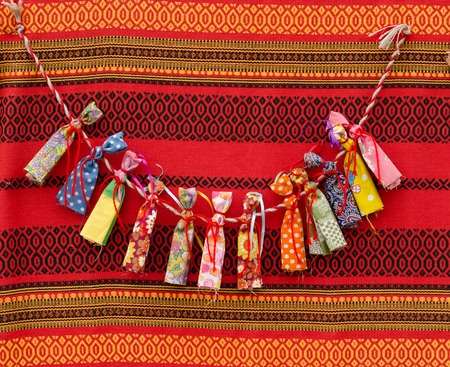 Russian rustic charms handcrafted at the fair Stock Photo