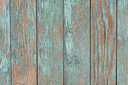 Old blue wooden table with grunge, abstract texture background