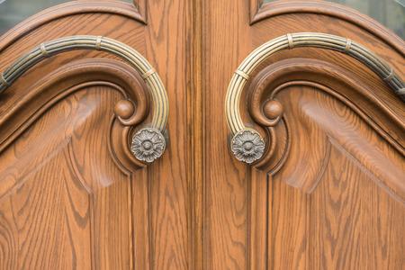 vintage brown wooden door