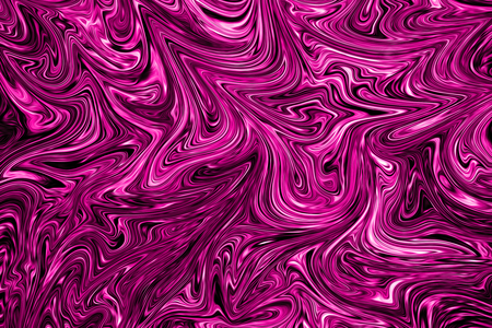Liquid Abstract Pattern With Plastic Pink And Black Graphics Color Art Form. Digital Background With Liquid Flow.