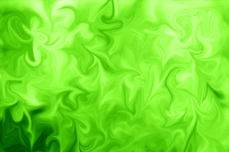 Liquid Abstract Pattern With UFO Green And Black Graphics Color Art Form. Digital Background With Liquid Poisonous Abstract UFO Green Flow Reklamní fotografie