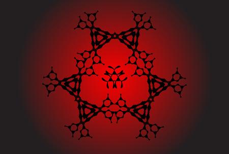 Geometrical, monochrome seamless pattern. Gothic style. Wall-paper for the press. Simple vector illustration. Vektoros illusztráció