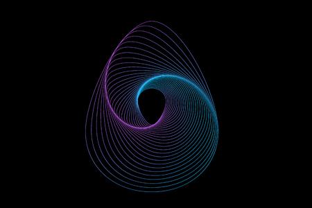 Easter Egg Geometric Gradation shape. Neon Glowing Sign. Vector illustration.