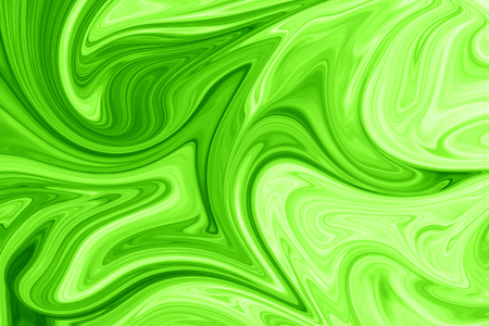 Liquid Abstract Pattern With UFO Green And Black Graphics Color Art Form. Digital Background With Liquid Poisonous Abstract UFO Green Flow.