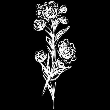 Stylish rose outline icon, great design for any purposes. Ilustrace