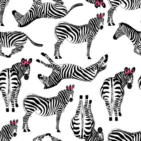 timeless: pattern consisting of zebras Illustration