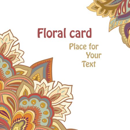 floral card Stock Vector - 18349605