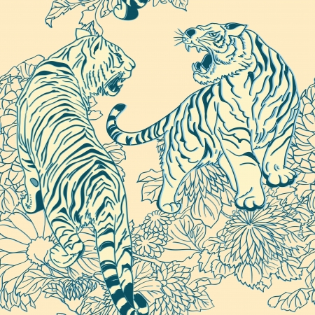 일본어 인쇄의 스타일 원활한 패턴