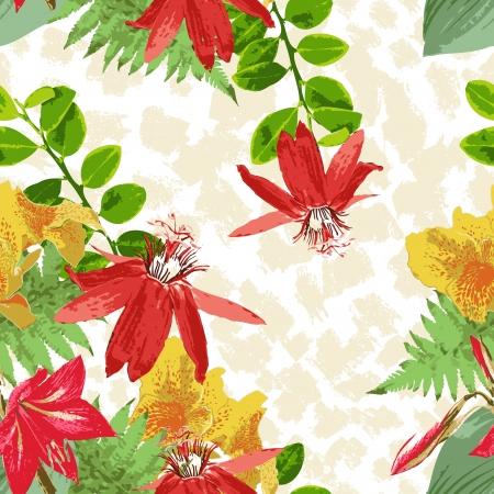 nahtlose Blumenmuster Illustration