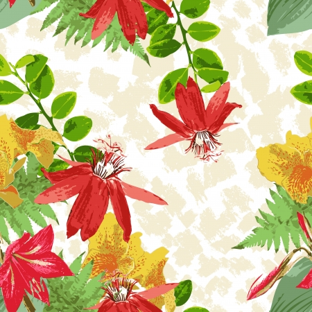 naturalistic: seamless flower pattern Illustration