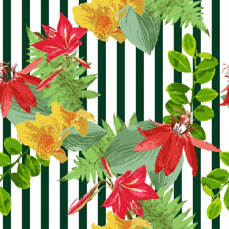 seamless flower pattern Illustration