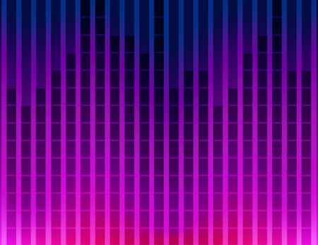 vector abstract colorful equalizer background tehno style Vector