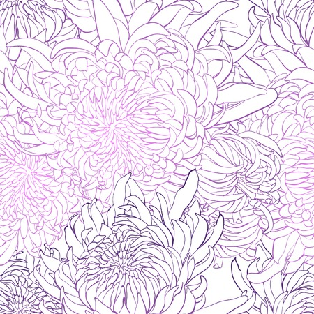 pattern background of piony flowers Vector