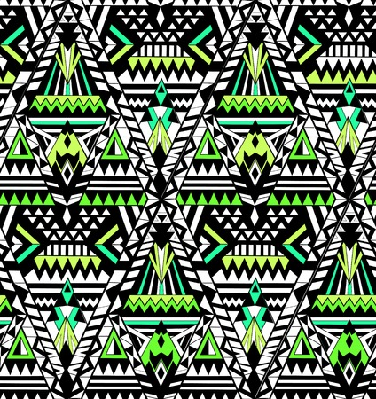 digital art: geometric seamless pattern of different lines