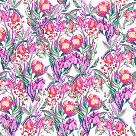 The artwork vector seamless pattern of flower