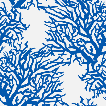 vector seamless pattern with sea underrwater floral Illustration