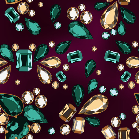 Seamless pattern of decorative strass on a dark background.