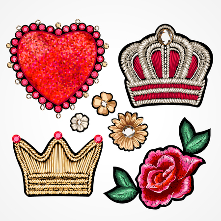 drawing pin: Set of stickers. Illustration