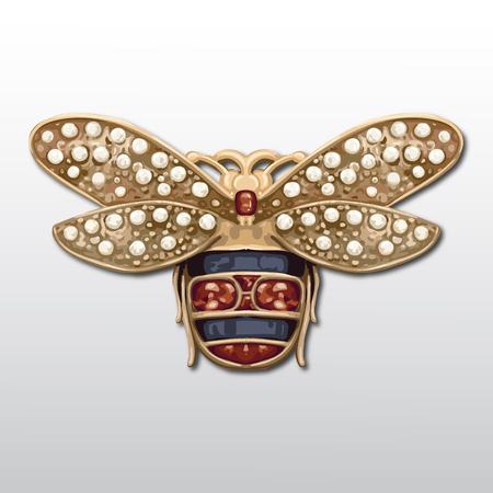 Vector isolated jewel