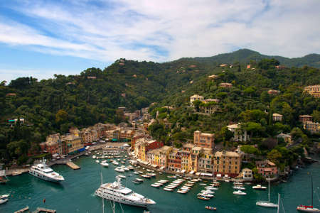 Portofino  is a small Italian fishing village, a popular resting place for millionaires Stock Photo