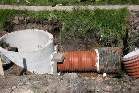installing sewerage system for a new street building