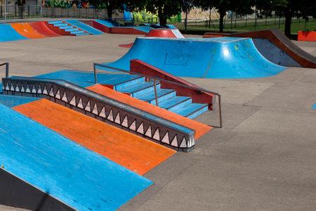 rámpa: A üres skate park rámpákkal és egyéb elemek Sajtókép