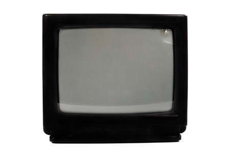 old TV on a white background Stock Photo - 13101389