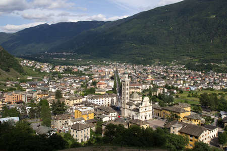 Italy, Tirano view from the above