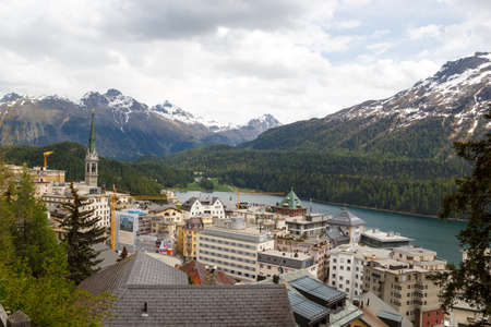 St. Moritz is a resort town in the Engadine valley in Switzerland. Stock Photo - 14594129