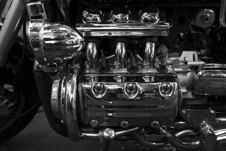 very big six cylinder motorcycle engine photo