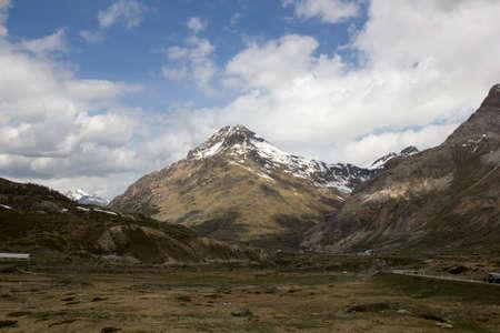 The Bernina Pass (el. 2328 m.) Swiss Alps. Bernina Diavolezza. Stock Photo - 17039997