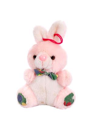 Old Rabbit (toy), isolated on white background Stock Photo - 17370404